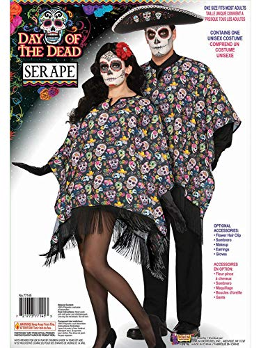 Day of the Dead Skull Candy Serape]()
