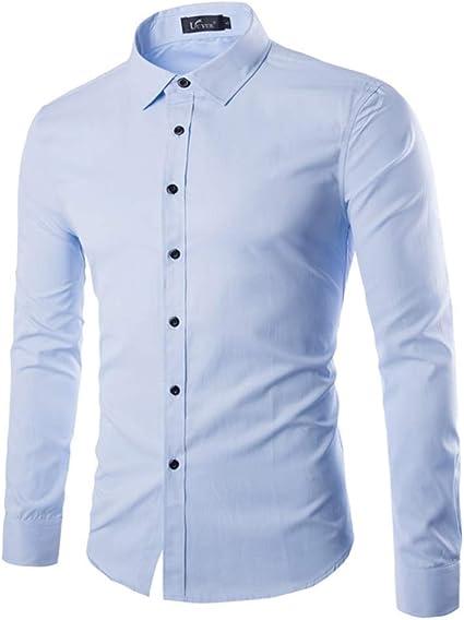 Fanuosums Camisas para Hombre Regular Fit, Camisa de Color ...