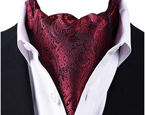 (Scute Men's Cravat Jacquard Woven Silk Necktie Scarf Formal Ascot)