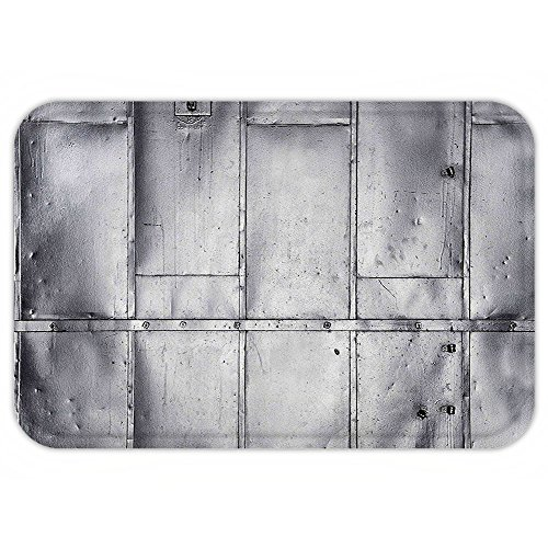 VROSELV Custom Door MatIndustrial Decor Metal Steel PanelIndustrial Wall Aluminum Background Futuristic Engineering Print (Aluminum Trim Natural Vinyl)