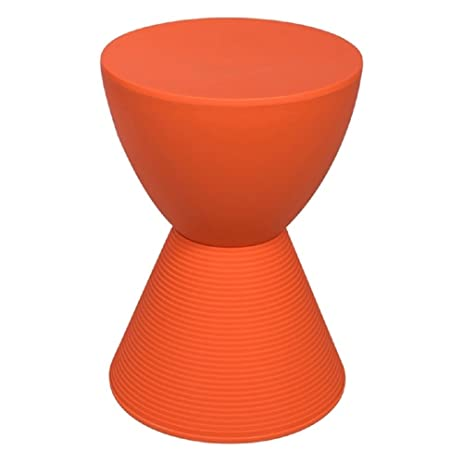 Round Side Table, Strong U0026 Durable Polycarbonate Plastic Material, Smooth  Tabletop U0026 Ribbed Leg
