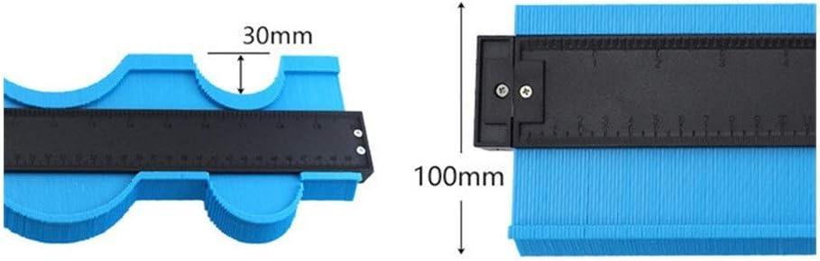 Rough 51cm Irregular Gauge Plastic Copy Conour Gauges Standard Wood Marking Tool Tiling Laminate Tiles Measuring Tools Durable Center (Color : Blue) Green