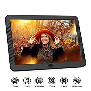 EastPoint Digital Photo Frame 8 Inch, 1920×1080 Full HD 16:10 IPS Display Photo/Music/Video Player Calendar Alarm Auto…
