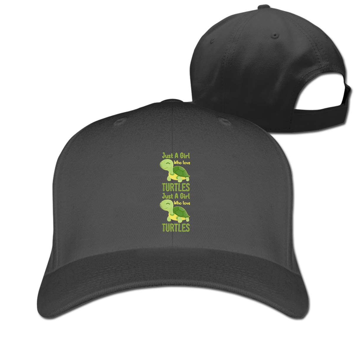 Just A Girl Who Loves Turtles Fashion Adjustable Cotton Baseball Caps Trucker Driver Hat Outdoor Cap Black