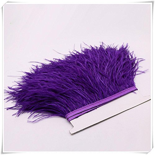Ostrich Feather Trimming Fringe Ostrich Decorative Feather Trims on Satin Header Sewing for Dress Costumes Craft Object Sold by 1 -