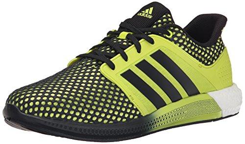 Adidas Prestaties Heren Zonne-boost M Hardloopschoen Semi Zonne-geel / Zwart / Semi Zonne Geel