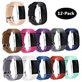 TECKMICO Fitbit Charge 2 bands,12PCS Multicolor Replacement bands for Fitbit Charge 2 Fitness Men Women (12-Pack Bands, Small)