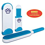 Pet Fur and Lint Remover by Paradize Furwiz - Dog, Cat, and Animal Hair Removal Brush - Quick and Easy, Double Sided Roller with Self Cleaning Base - Great for Clothing, Furniture, Car, and Travel