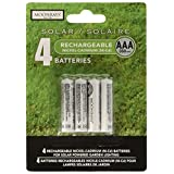 Moonrays 97126 Rechargeable NiCd AAA Batteries for Solar Powered Units, AAA, 4-Pack