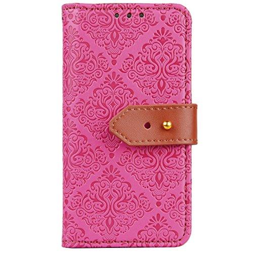 WE LOVE CASE iPhone SE / 5 / 5S Schutzhülle iPhone SE Hülle , iPhone 5S / 5 Lederhülle Im Retro Style Elegant Rose Muster Tasche Handytasche Backcover Stoßfest Protective Bumper Case Cover Brieftasche