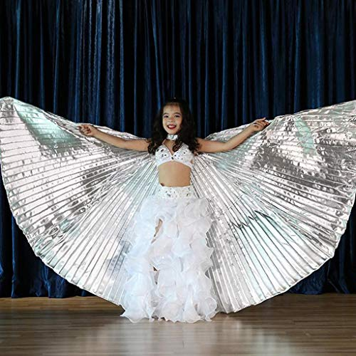 Flurries  Children Angel Isis Wings for Kids - Belly Dance Costume Cloak - Shiny Colorful Butterfly Wings - Performance Clothing Cosplay Prop - for Carnival Halloween Shows -