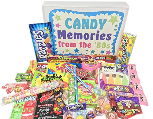 Woodstock Candy ~ Gift Box Old School 80s Eighties Candy Retro Nostalgic Gift Assortment Memories 1980s Candy for Man or Woman (Retro Candy Box)