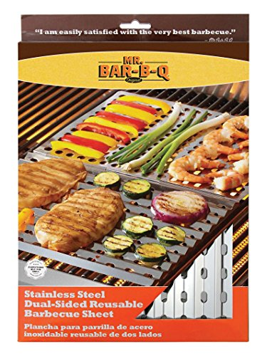 Uniflame Stainless Steel Dual Sided Reusable Bbq Sheet