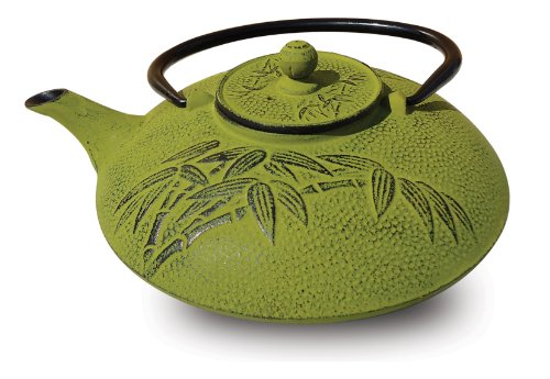 Old Dutch Cast Iron Positivity Teapot, 26-Ounce, Moss Green