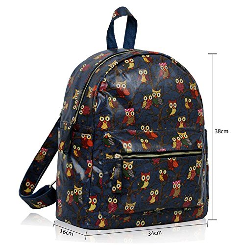 TrendStar - Bolso mochila  para mujer rojo E - Red B - Navy
