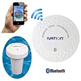 Ivation Bluetooth Remote Water Thermometer for Bathtub, Pool & Hot Tub – Includes FREE Download of Mobile App for Apple iOS Devices