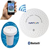 Ivation Bluetooth Water Thermometer for Bathtub, Pool & Hot Tub