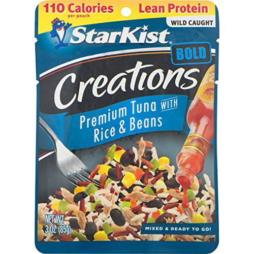 StarKist Tuna Creations BOLD with Rice & Beans in Hot Sauce - 3 oz Pouch (Pack of 24) (Packaging May Vary)