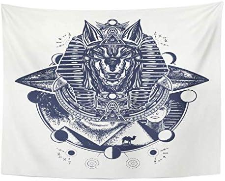 MinnSok Tapiz para Colgar en la Pared, diseño de Tatuaje de Anubis ...