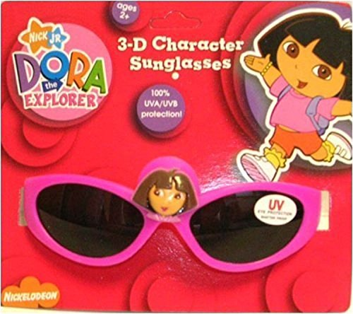 Dora the Explorer Hot Pink Colored Frame Kids Character Sunglasses