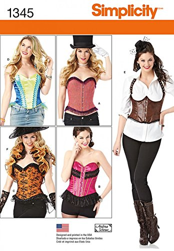 Holiday Bustier - Simplicity Ladies Sewing Pattern 1345 Corsets & Bustiers