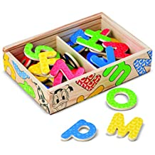 Melissa & Doug Disney Mickey and Friends Wooden Alphabet Magnets - 52 Uppercase and Lowercase Letters