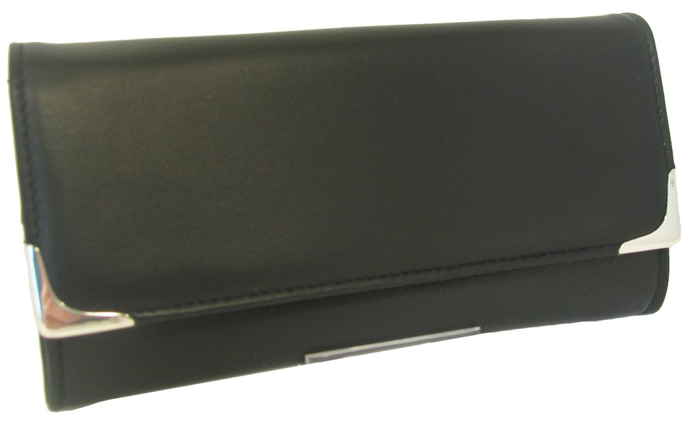 Martin Wess Silverline Metis Nappa Leather Large Stand Up Tobacco Pouch with 925 Sterling
