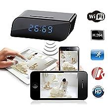 Best Shopper - HD 720P Wireless Wifi IP Spy Hidden Camera Motion Security Alarm Clock IR DV Cam