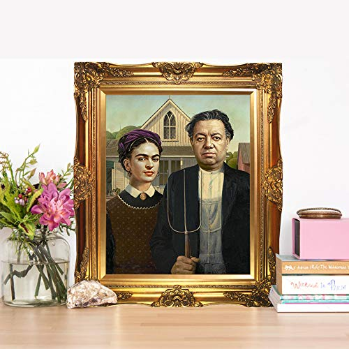 In With The Old Frida KHALO & Diego Rivera - Limited Poster Artwork - Professional Wall Art Merchandise - Artist, Mexican, Portraits