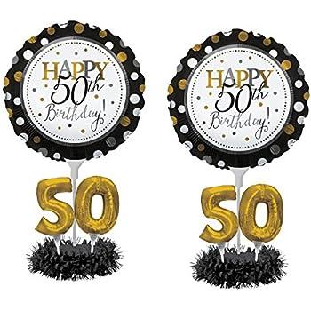 Balloon Centerpiece Kit 50th Birthday 2 Pack