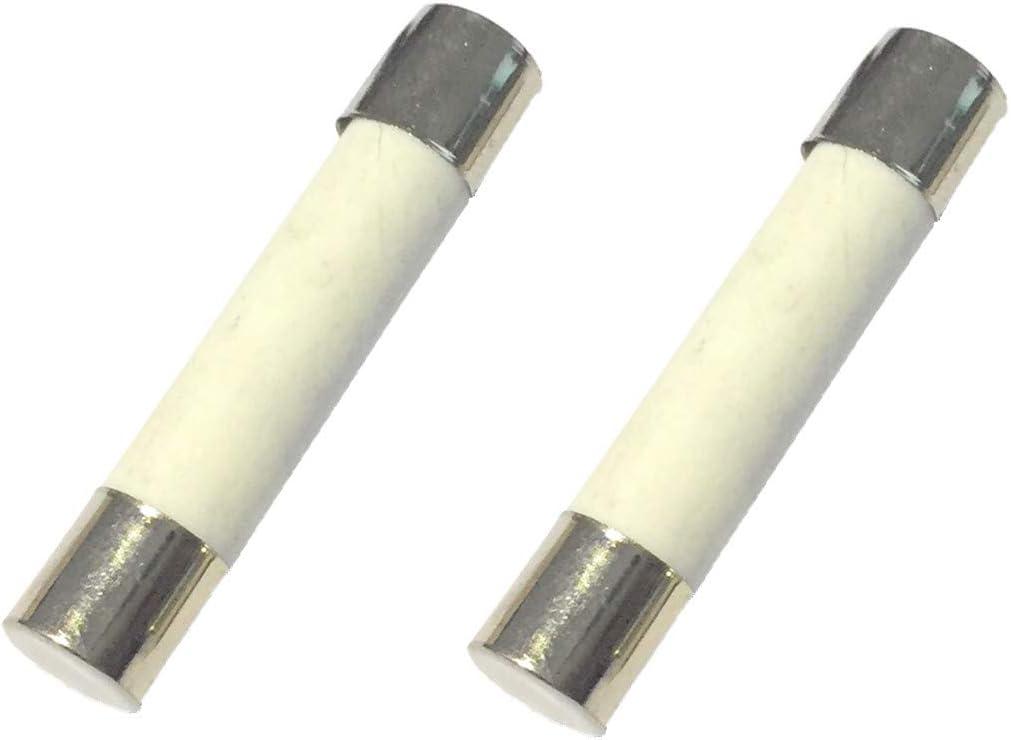 HLin 100 Pieces Faset-Blow Ceramic Fuse Link 500V 3A 6 x 30mm