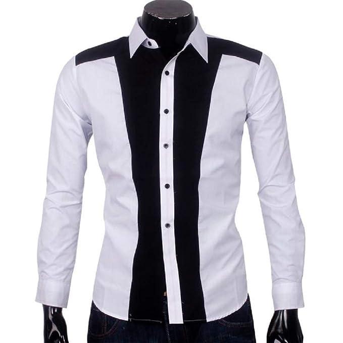 release date: 6635e 8a0d5 UJUNAOR Camicie Uomo Maniche lungheCamicia per Colletto con ...