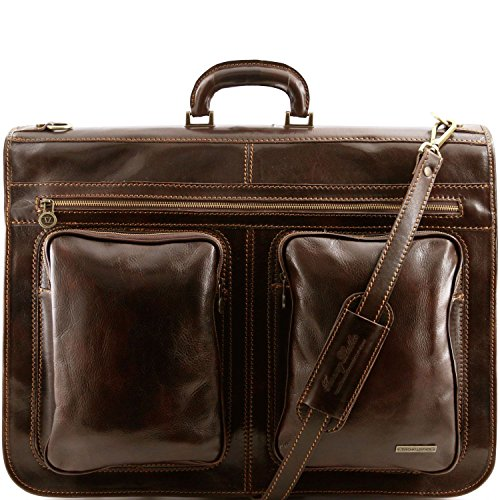 Tuscany Leather - Tahiti - Garment leather bag Dark Brown - TL3030/5 by Tuscany Leather