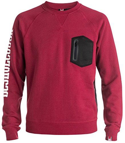 Dc Red Sweatshirt (DC Mens RD Tempist Fleece Sweater Sweatshirt Medium Jester Red)