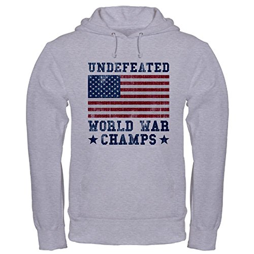 CafePress - Undefeated World War Champs Hooded Sweatshirt - Pullover Hoodie, Classic & Comfortable Hooded - Champ Sweatshirt Thermal