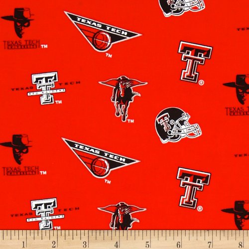Tech Cotton Fabric (Collegiate Cotton Broadcloth Texas Tech Fabric By The Yard)