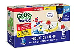 Gogo Squeez Yogurtz, Variety Pack (Strawberrybanana), 3.2 Ounce Portable Bpa-free Pouches, Gluten-free, 10 Total Pouches