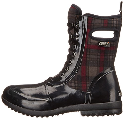 Womens Bogs Plaid Lace Black Sidney Multi Wellies 1wxSwTg