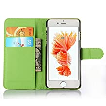 ihpone 6 Case,Hankuke Art Graphic PU Leather Magnet Flip Case with Kickstand and Card Holder for iPhone 6 (4.7-Inch) (green)
