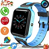 2019 UPGRADES Kids Smart Watch Phone GPS Tracker for Kids Boys Girls Game Watch with Anti-Lost SOS Camera Flashlight 1.54'' Touch Screen Cell phone Smartwatch Holiday Outdoor Birthday Gifts