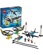 LEGO 60260 City Luchtrace met Speelgoed Vliegtuig en Helikopters , Bouwset voor Jongens en Meisjes van 5 Jaar en Ouder