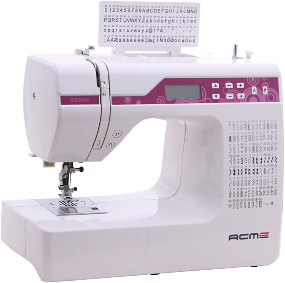 ZHHAOXINPA Mini Máquina de Coser Electrónica con 100 Puntadas de Costura (útiles, Elásticas, Decorativas), Costura Automática, Display Multifunción Moda, White ...