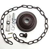 Canopy Kit & Hard-Wire Assembly, Old Bronze with 3ft Chain