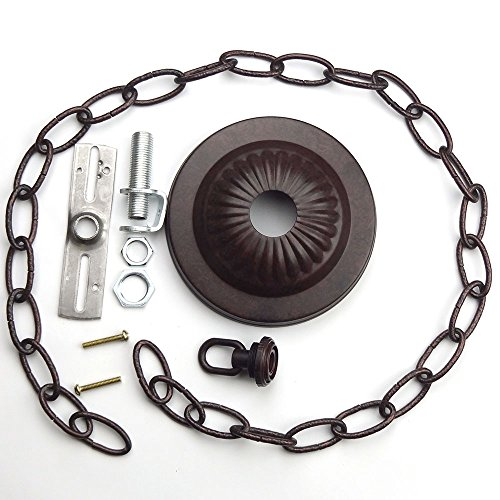 Canopy Kit & Hard-Wire Assembly, Old Bronze with 3ft Chain ()