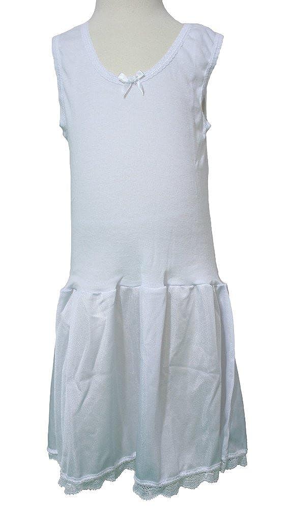 Rosette Girls Antistatic White Classic Full Slip - Sizes 4-22