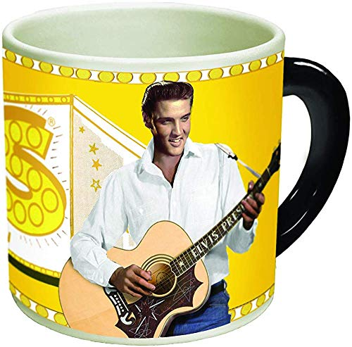 Timeless Elvis Presley Heat Changing Mug - Add Coffee or Tea and Elvis goes from Vegas to Memphis - Comes in a Fun Gift (Elvis Presley Mug)