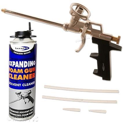 Pistola de espuma expansiva gbroth y 500 ml disolvente limpieza puede