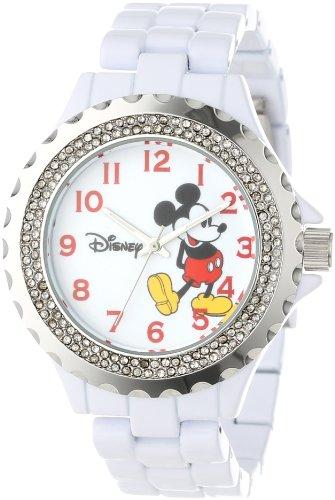 Disney Women's W000499 Mickey Mouse Enamel Sparkle Bracelet Watch ()