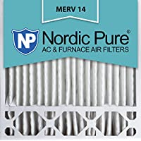 Nordic Pure 20x20x5 (4-3/8 Actual Depth) MERV 14 Honeywell Replacement Pleated AC Furnace Air Filter, Box of 1
