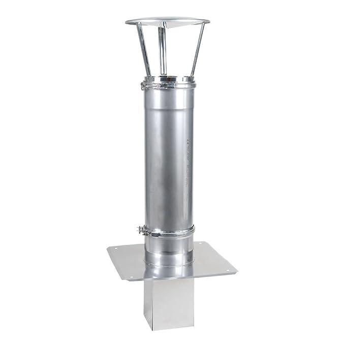 Haube Schornsteinverl/ängerung Kaminverl/ängerung einwandig DN /Ø 120 mm von 1,0 m Reinigung